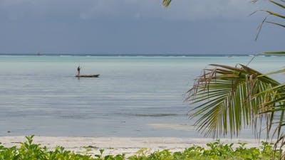 Boats at Zanzibar beach in Tanzania
