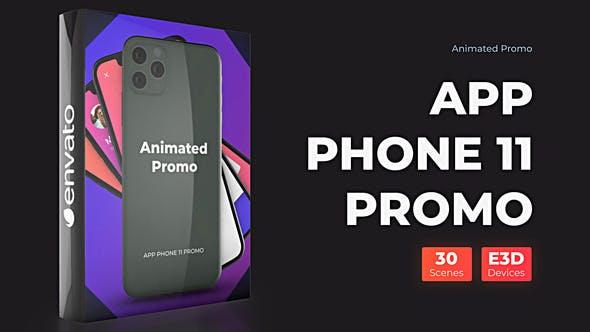Phone 11 Pro Max Presentation - App Promo Mockup