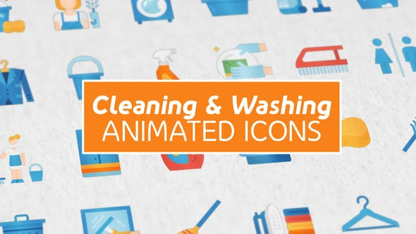 Thumbnail for Cleaning & Washing Modern Flat Animated Icons