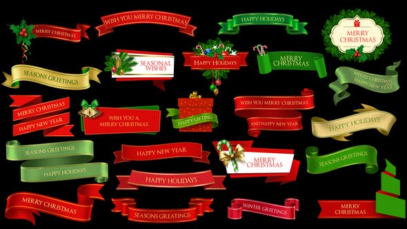 Thumbnail for Christmas Lowerthirds and Banners
