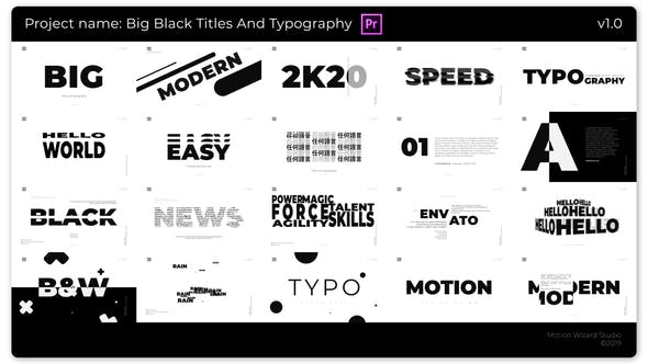 Thumbnail for Big Black Titles And Typography