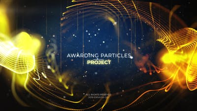 Celebration Particles l Awards Title