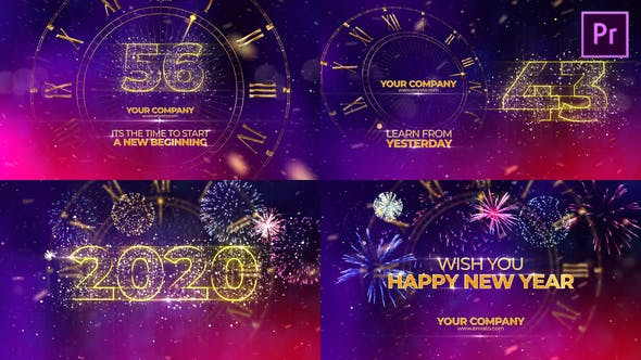Thumbnail for New Year Countdown 2020 Premiere Pro