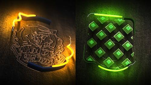 Neon Wood Logo Reveal