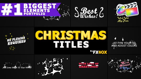 Thumbnail for Christmas Titles And Transitions | FCPX