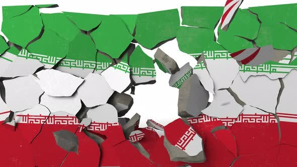 Thumbnail for Destroying Wall with Painted Flag of Iran