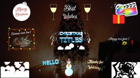 Christmas Titles Collection | FCPX