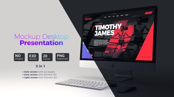 Thumbnail for Mockup Desktop //Презентация сайта