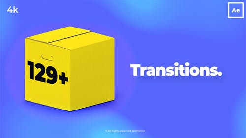 Clean and Modern Transitions Package For After Effects