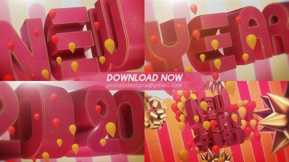 Thumbnail for Feliz Año Nuevo l Año Nuevo 2020 l Plantilla de celebración de Año Nuevo