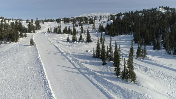 Thumbnail for Aerial View on Snow Route
