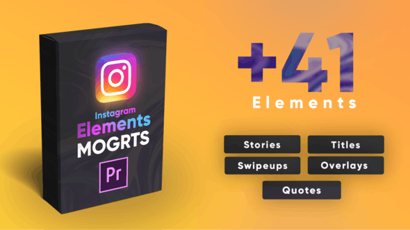 Thumbnail for Instagram Elements Pack-MOGRT
