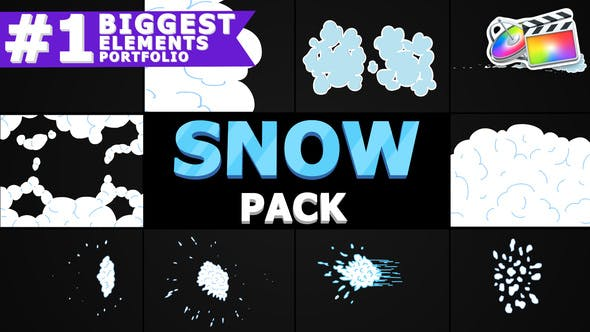 Thumbnail for 2D Cartoon Snow | FCPX