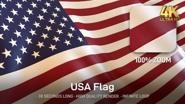 Thumbnail for USA Flag / American Flag - 4K