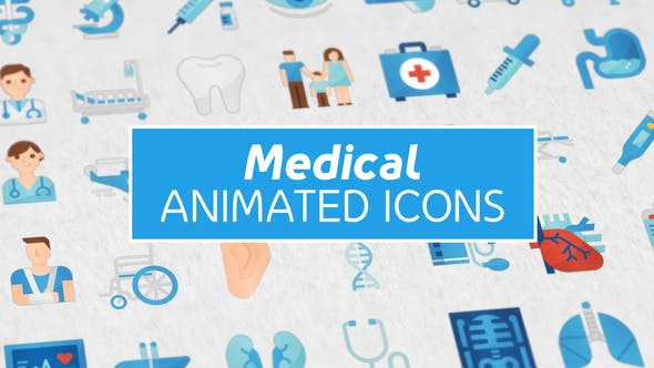 Thumbnail for 36 Medical Animated Icons
