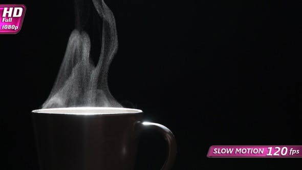 Thumbnail for Jet Of Hot Steam From A Cup