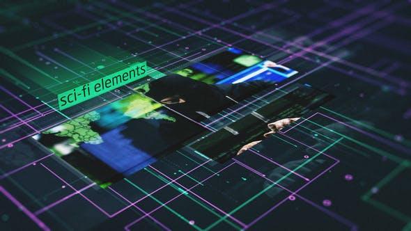 Thumbnail for Sci-Fi Elements Slideshow
