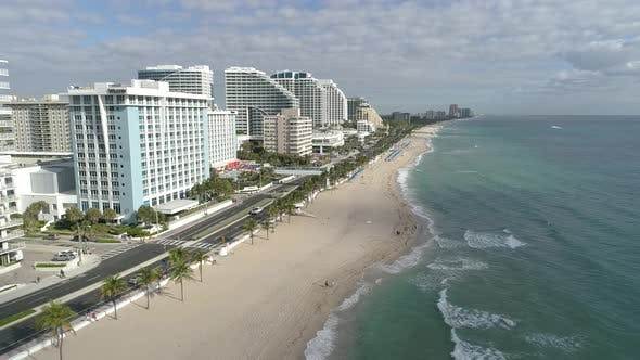 Thumbnail for Aerial view of Fort Lauderdale coast