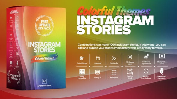 Thumbnail for Colorful Instagram Stories Pack