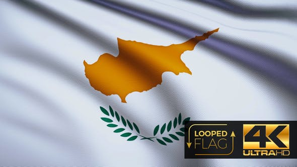 Thumbnail for Flag 4K Cyprus On Realistic Looping Animation With Highly Detailed Fabric