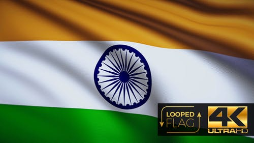 India Flag 4K