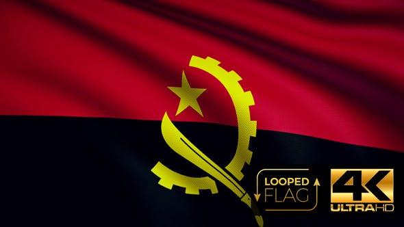 Thumbnail for Angola-Flagge 4K