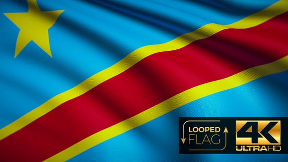 Thumbnail for Democratic Republic of the Congo Flag 4K