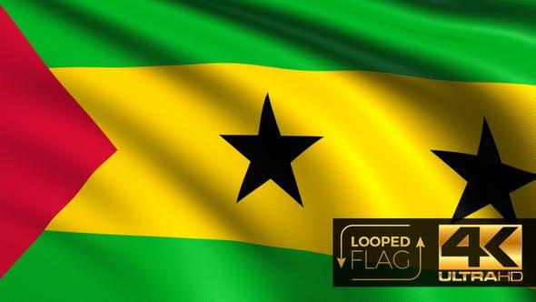 Thumbnail for Sao Tome und Principe Flagge 4K
