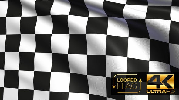Thumbnail for Checkered Race Flag 4K