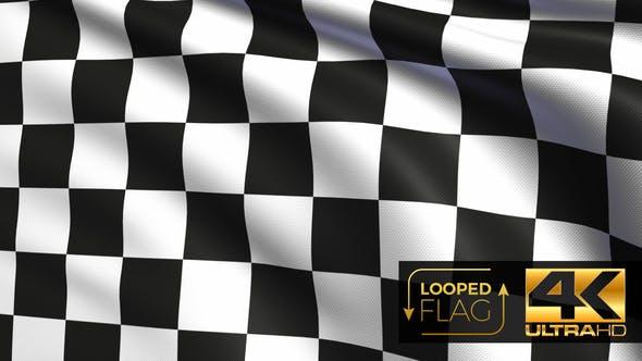 Checkered Race Flag 4K
