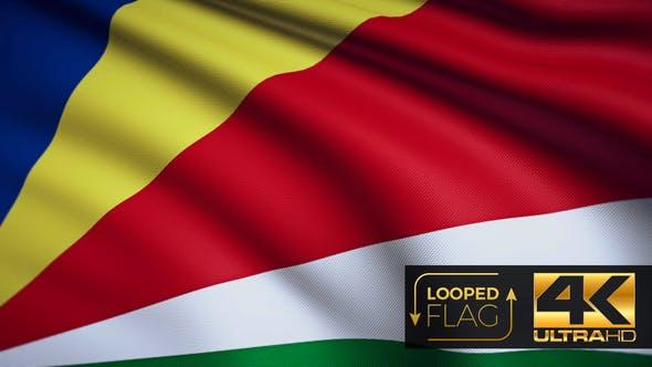 Thumbnail for Seychelles Flag 4K