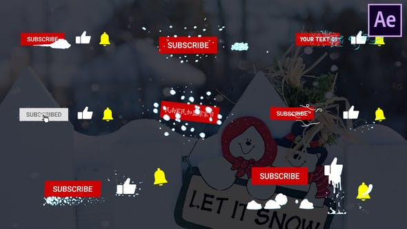 Thumbnail for Snow Subscribes | After Effects