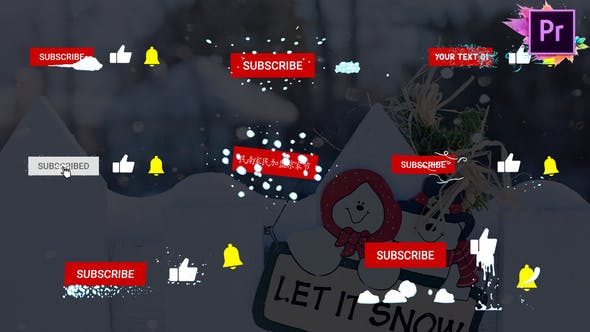Thumbnail for Snow Subscribes | Premiere Pro MOGRT