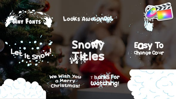 Thumbnail for Snowy Titles | FCPX