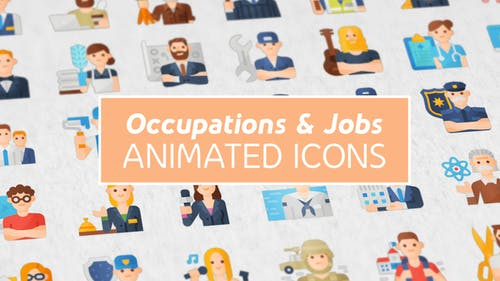 Occupations & Jobs Modern Flat Animated Icons