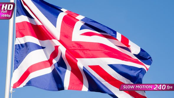 Thumbnail for British Flag Waves The Wind