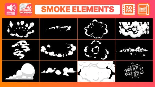 2D Cartoon Smoke   FCPX