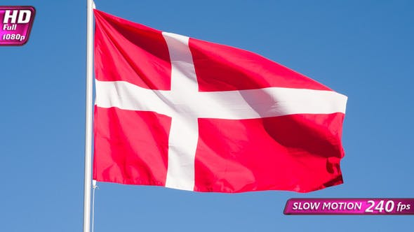 Thumbnail for Flag Of Denmark Waves The Wind