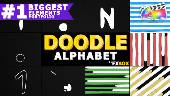 Thumbnail for Cartoon Alphabet And Transitions   FCPX