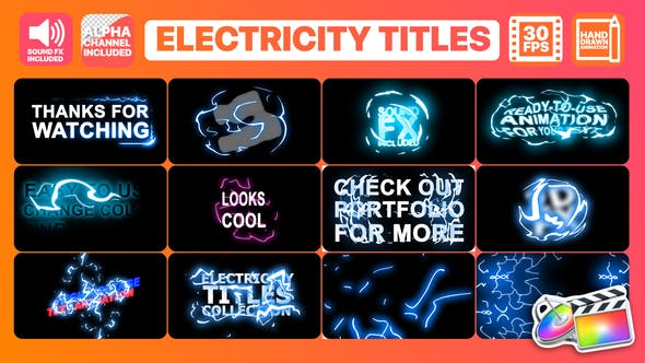 Thumbnail for Electricity Titles Collection | FCPX