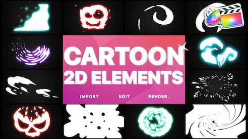 2D Cartoon Elements   FCPX