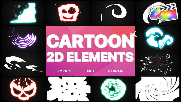 Thumbnail for 2D Cartoon Elements | FCPX