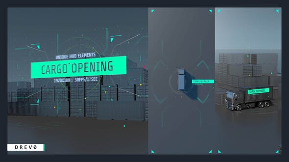 Thumbnail for Cargo Opening/ Transportation/ Container Shipping/ Truck transportation/ HUD UI/ Fast Delivery/ APP