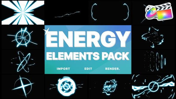 Thumbnail for Cartoon Energy Elements Pack   FCPX