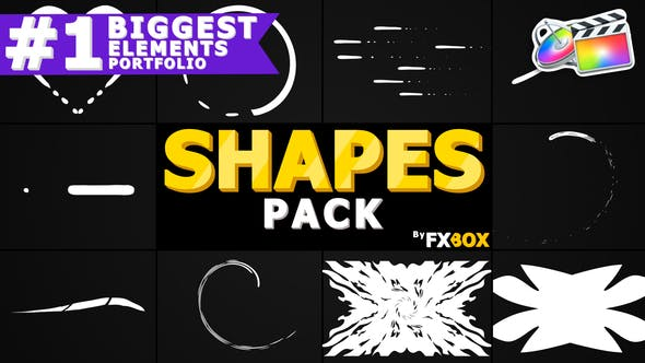 Thumbnail for Cartoon Shapes Pack | FCPX