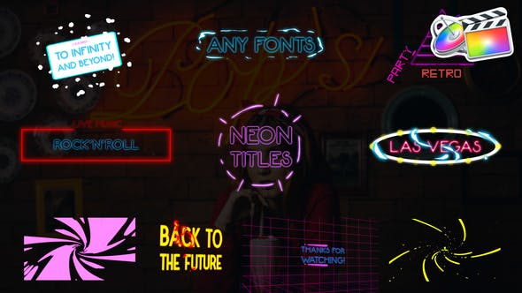 Thumbnail for Neon Titles Pack | FCPX