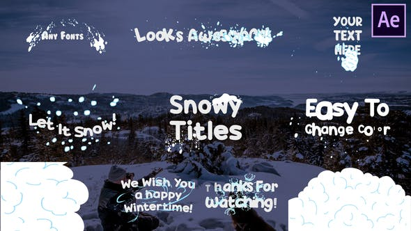 Thumbnail for Snow Titles | After Effects