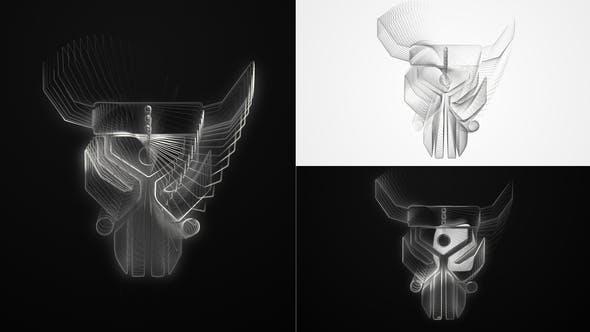 Thumbnail for Elegant Wireframe Logo