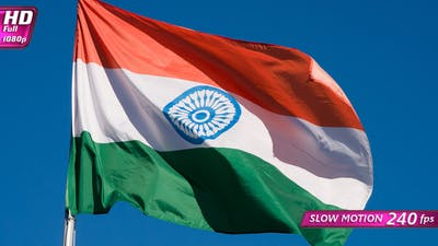 Indian Flag Lit By The Sun