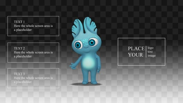 Thumbnail for Presentation with cartoon Alien Monster